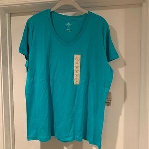 St. John's Bay Women's Short Sleeved V-Neck XL